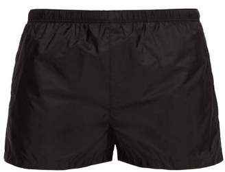 Prada Elasticated Waist Nylon Swim Shorts - Mens - Black