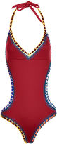 Kiini Burgundy Crochet Mono Cut-Out Swimsuit