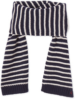 Petit Bateau Boys striped knitted scarf