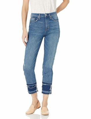 Hudson Women's Zoeey HIGH Rise Straight Crop Double Step Hem 5 Pocket Jean
