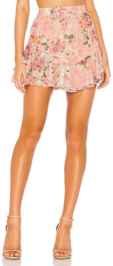 HEMANT AND NANDITA Blush Georgette Cross Stitch Skirt