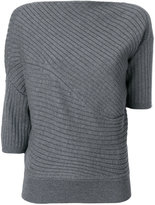 J.W.Anderson asymmetric ribbed knitted top