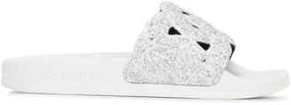 Casadei Glitter Strap Slides