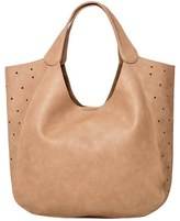 Urban Originals 'Masterpiece' Perforated Faux Leather Tote - Grey