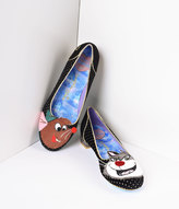 Irregular Choice Black & Gold Dotted Lucifer & Gus Cinderella Flats