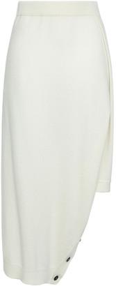Pringle Asymmetric Button-detailed Cashmere Skirt