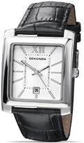 Sekonda Men'S Quartz Black Leather Strap Date Watch (27Gba85)