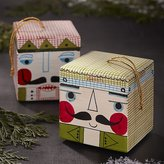 Crate & Barrel Nutcracker Wood Box Ornaments