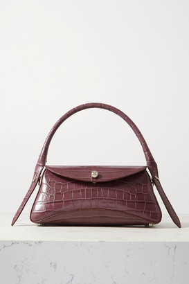 Ratio et Motus Cosmo Croc-effect Leather Shoulder Bag - Grape