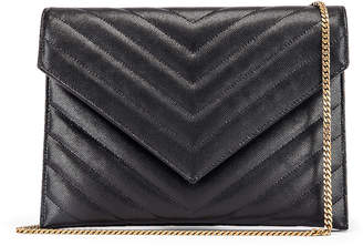 Saint Laurent Leather Tribeca Chain Wallet Bag in Black | FWRD