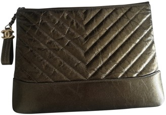 Chanel Gabrielle Metallic Leather Clutch bags
