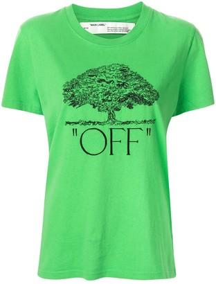 Off-White logo tree print T-shirt