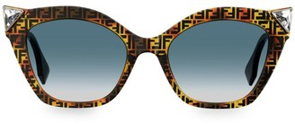 Fendi 52MM Cat Eye Crystal Embellished Sunglasses