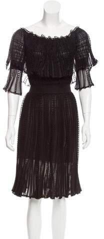 Alexander McQueen Off-The-Shoulder Midi Dress w/ Tags