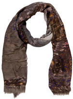 Yigal Azrouel Abstract Printed Woven Scarf