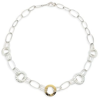 Ippolita Classico Chimera Two-Tone Mixed Wire & Hammered Disc Necklace