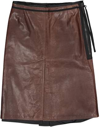 Prada Brown Leather Skirts