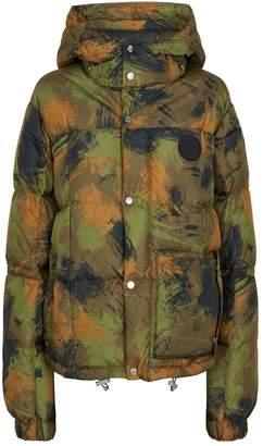 Off-White Off White Brushstroke Camouflage Down Jacket