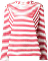 MiH Jeans high neck striped T-shirt - women - Cotton - S