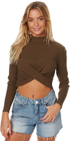 Rusty Sky Twist Womens Longsleeve Top Green