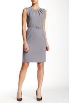 Nine West Sleeveless Pleat Neck Dress