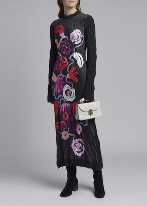 Marni Floral-Print Long-Sleeve Dress