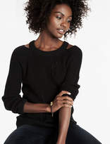 Lucky Brand Slit Shoulder Sweater