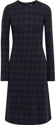 Maison Margiela Cutout Checked Stretch-knit Dress
