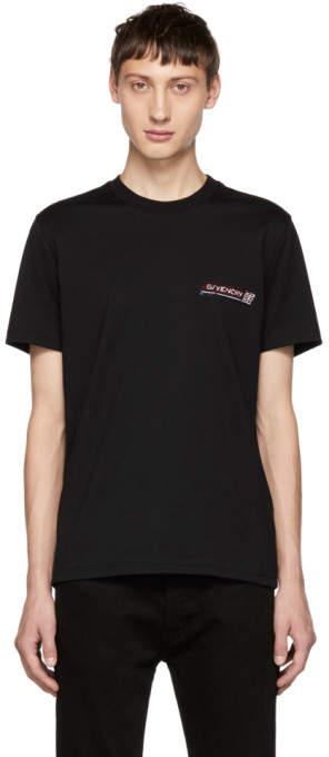 Givenchy Black Sequin Logo T-Shirt