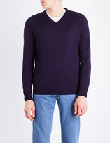 Canali V-neck wool jumper