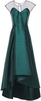 Sachin + Babi Tulle-paneled Pleated Duchesse-satin Gown