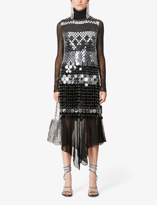Paco Rabanne Losange embellished PVC mini dress