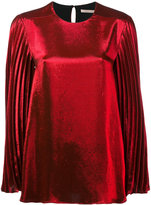 Christopher Kane lamé pleated sleeve blouse