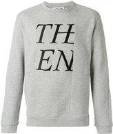 McQ cut out print sweatshirt
