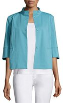Lafayette 148 New York Nikki Snap-Front Topper Jacket