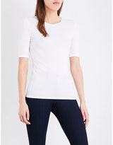 Joseph Ribbed-trim stretch-jersey top