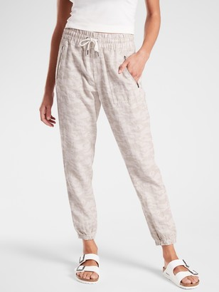 Athleta Cabo Tide Linen Jogger