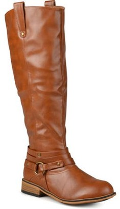 Brinley Co. Women's Mid-calf Wide Width Riding Boots