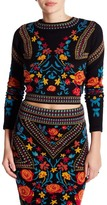 Romeo & Juliet Couture Embroidered Print Blouse