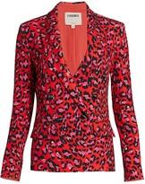 L'Agence Kenzie Leopard Print Blazer