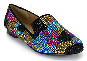 Steve Madden Conncord - Multi-colored Rhinestone Camouflage Loafer