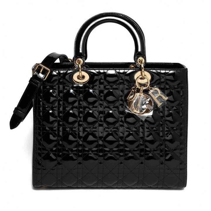 Christian Dior Lady patent leather crossbody bag