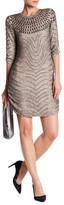 Parker Petra Beaded Elbow Sleeve Dress