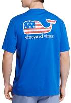 Vineyard Vines Graphic Flag Whale Pocket Tee
