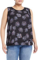 Joan Vass Sleeveless Wrapped Woven Blouse, Plus Size