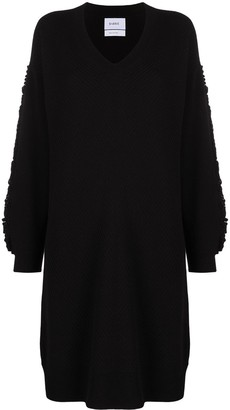 Barrie Textured Sleeeve Cashmere Dress