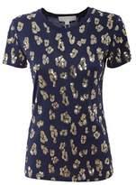 Michael Kors Women's Blue Cotton T-shirt.