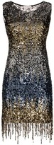 Faith Connexion Fringed Sequinned Mini Dress
