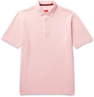 Isaia Garment-Dyed Cotton-Pique Polo Shirt
