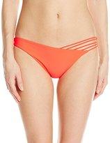 Luli Fama Women's Verano De Rumba Strappy Front Side Moderate Bikini Bottom